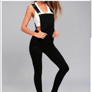 Cheap Monday black skinny overalls XXS